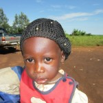 Close-up of child in DRC