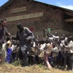 Jose dancing with the students at his school in the DRC Africa