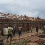 One of the school buildings in the DRC is almost done