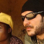 Jose Antonio Ruiz Diez talks to local girl in DRC
