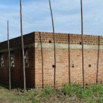 School building in DRC without roof